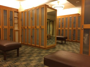 Spa locker area