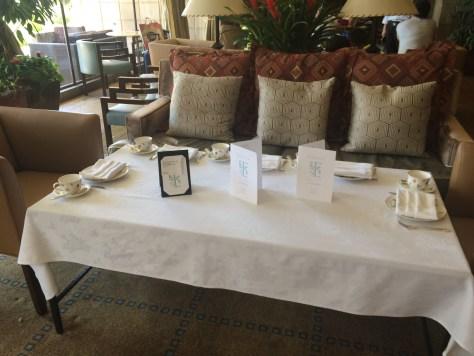 Biltmore tea seating for 5