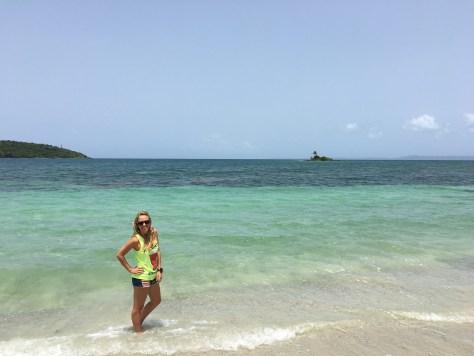 Ceiba beach Cayo Cabritas in the distance
