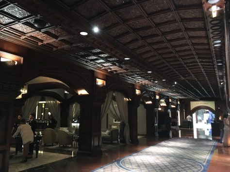 El San Juan Mahogany carved Lobby