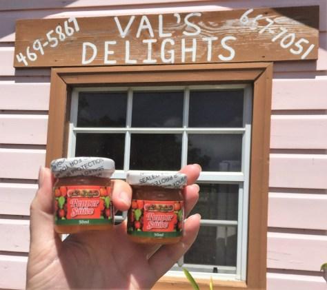 Vals Delights Pepper Sauce travel size