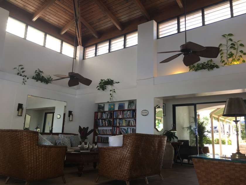 Classic Caribbean style decor in the Mount Nevis Hotel Lobby