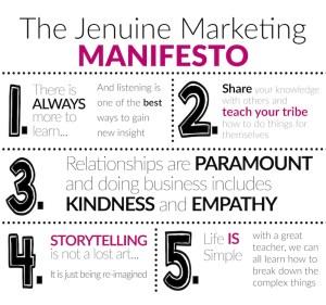 Jenuine Marketing Manifesto