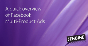 Quick overview of Facebook Multi-Product Ads