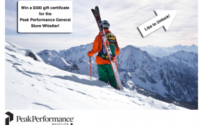 Facebook Contest Design – Peak Performance Whistler