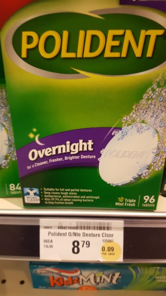 Regular cleaning tablets - 96 for $8.79