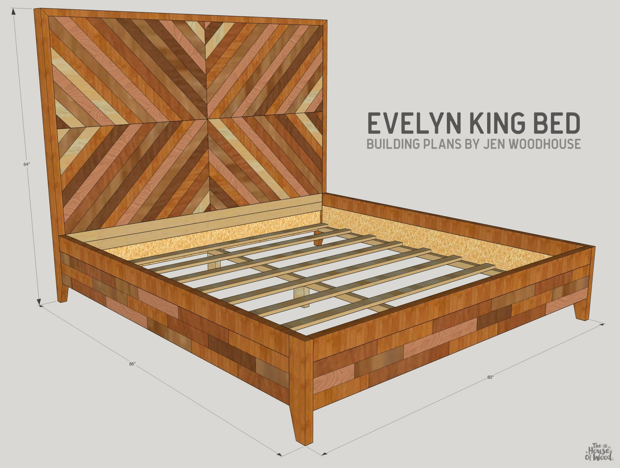 Diy West Elm Alexa Chevron Bed