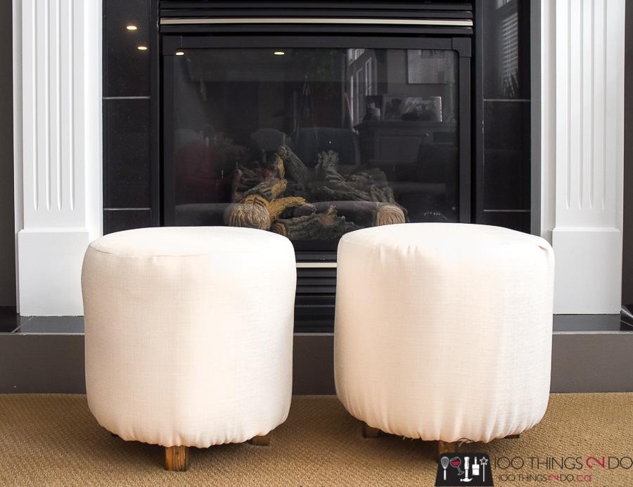 diy upholstered ottoman footstool