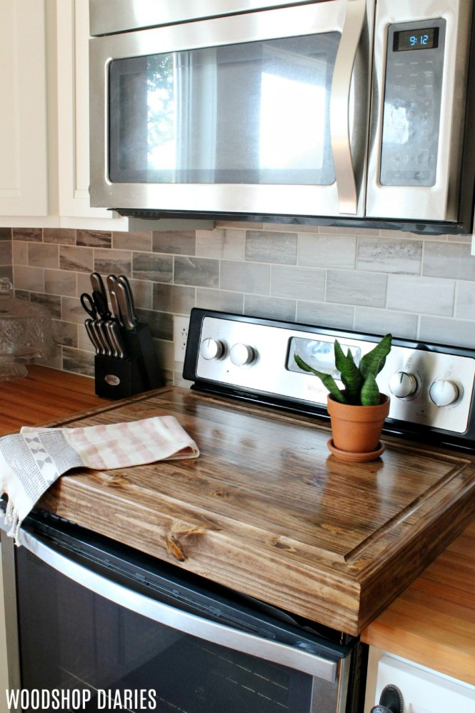 Wooden Stove Top Covers Gl Wood Cover Diy