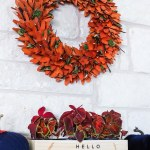 Fall Mantel Decorating With Navy And Burnt Orange
