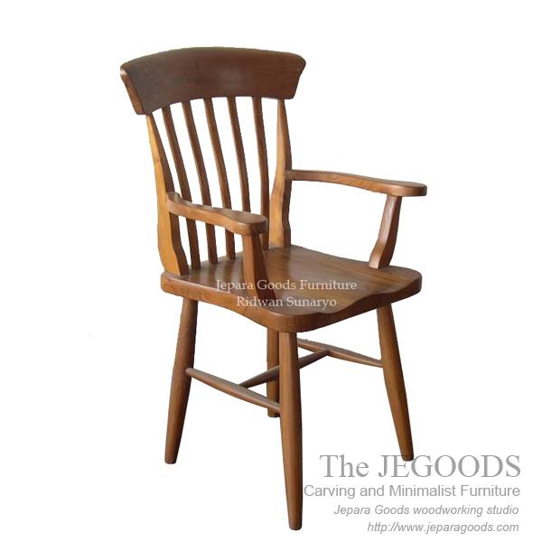 Country Koboy Arm Chair Retro Country Farmhouse Teak Wood