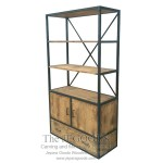 X Besi Cabinet Iron Wood