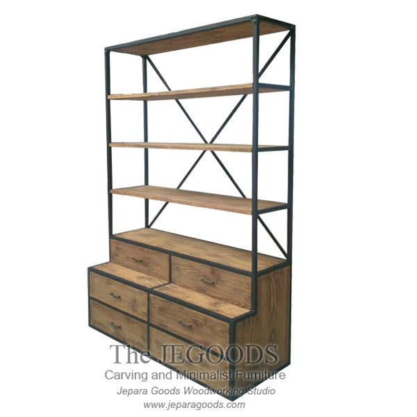 Cooper Rack Industrial Iron Wood