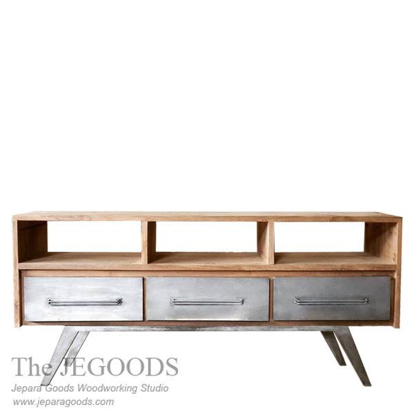 Buffet Console Metal Wood