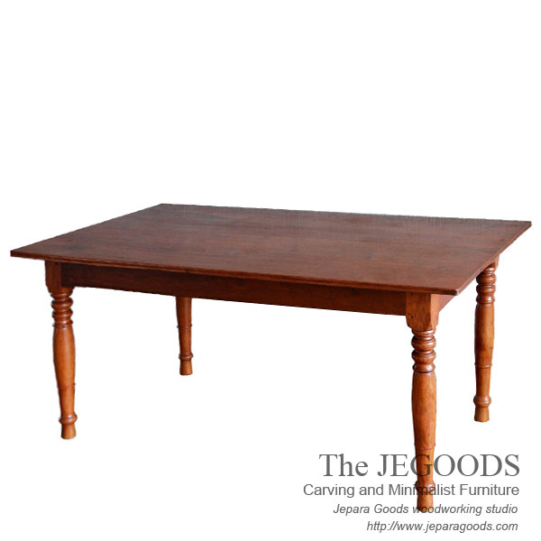 Meja Old Latte Vintage Dining Table Retro Mid Century Furniture Jepara Goods Indonesia Teak Manufacturer