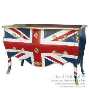 Jepara antique mahogany union jack flag mebel bendera inggris shabby chic furniture