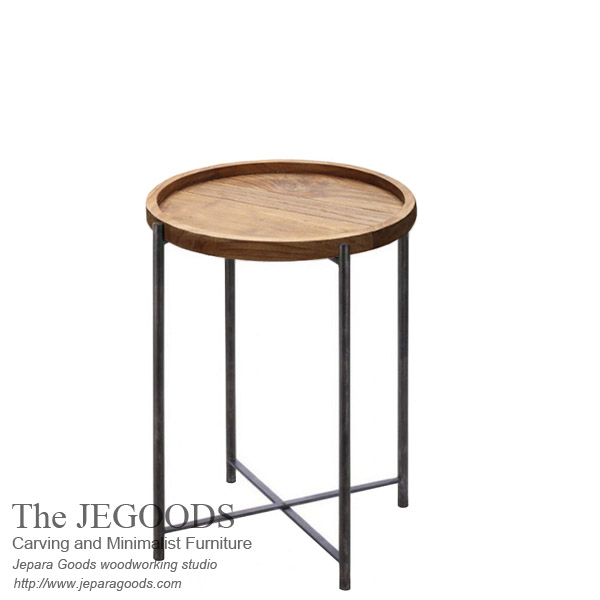 Round Tray Side Table Iron