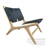 Goatskin Leather Lounge Chair