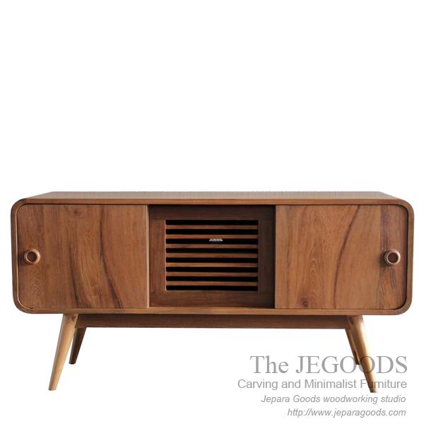 Buffet Radio Style - Vintage Retro Sideboard Teak Furniture Jepara