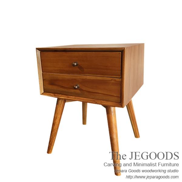 Buy Vintage Furniture: Teak Sidetable Retro Scandinavian Vintage Furniture By