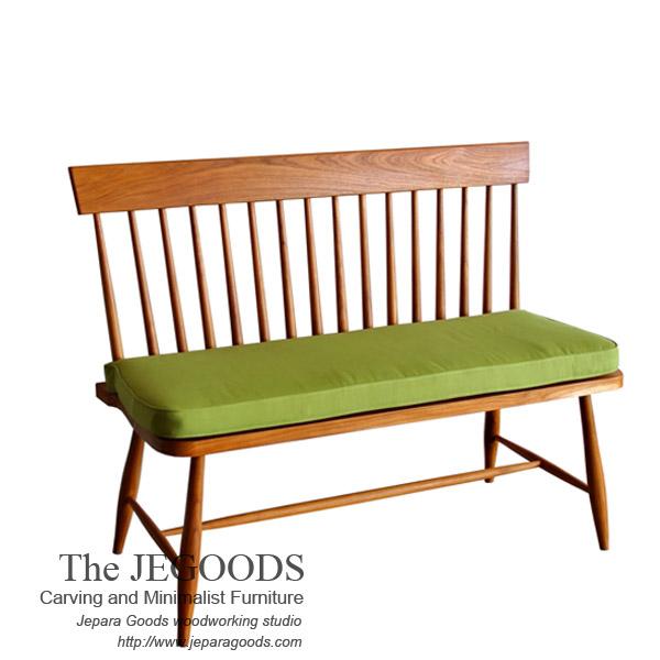 Windsor Spindle Line Bench 2 Seat