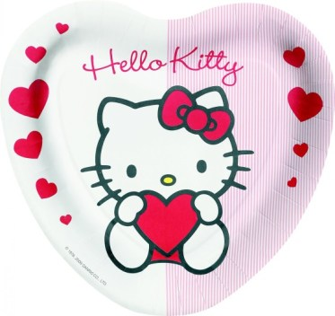 gambar hello kitty di piring