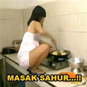 Masak menu Sahur