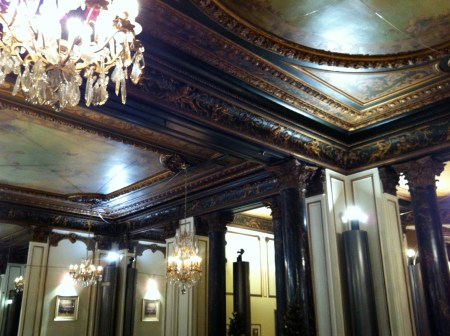Mirrors, marble, crystal, and painted ceilings