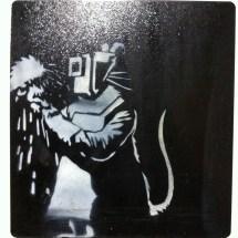 Banksy. Welder Rat. Stencil on metal. 2006. Collection of N Laugero Lasserre.