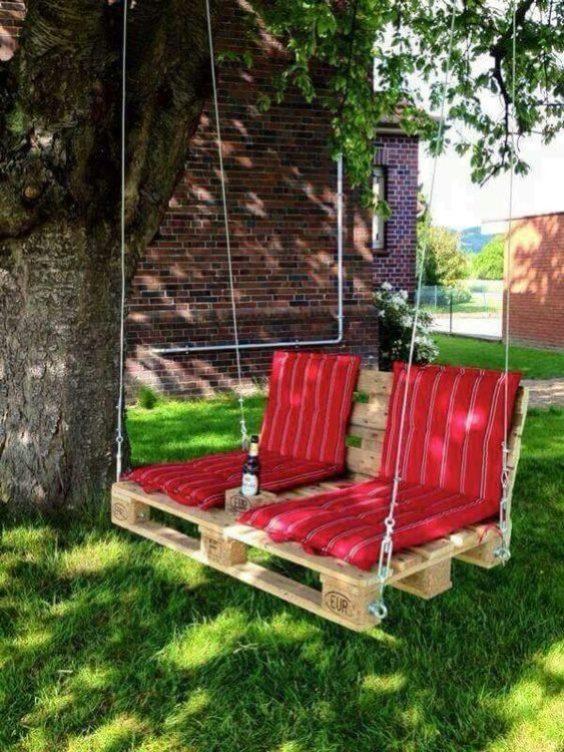 Um jardim pode ficar bem mais aconchegante com boas ideias. Foto: Pinterest