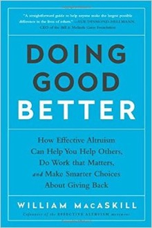 A photo of the book Doing Good Better by William MacAskill