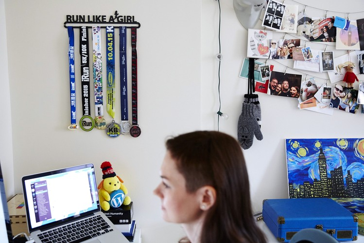 My colleague Julia working remotely for Automattic featured on the Wall Street Journal