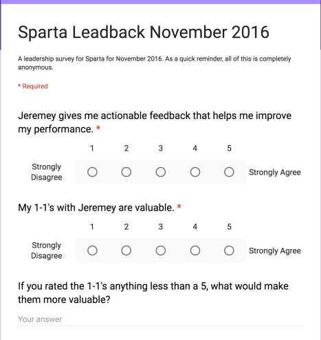 A leadback survey is a great way to get critical feedback from your team.