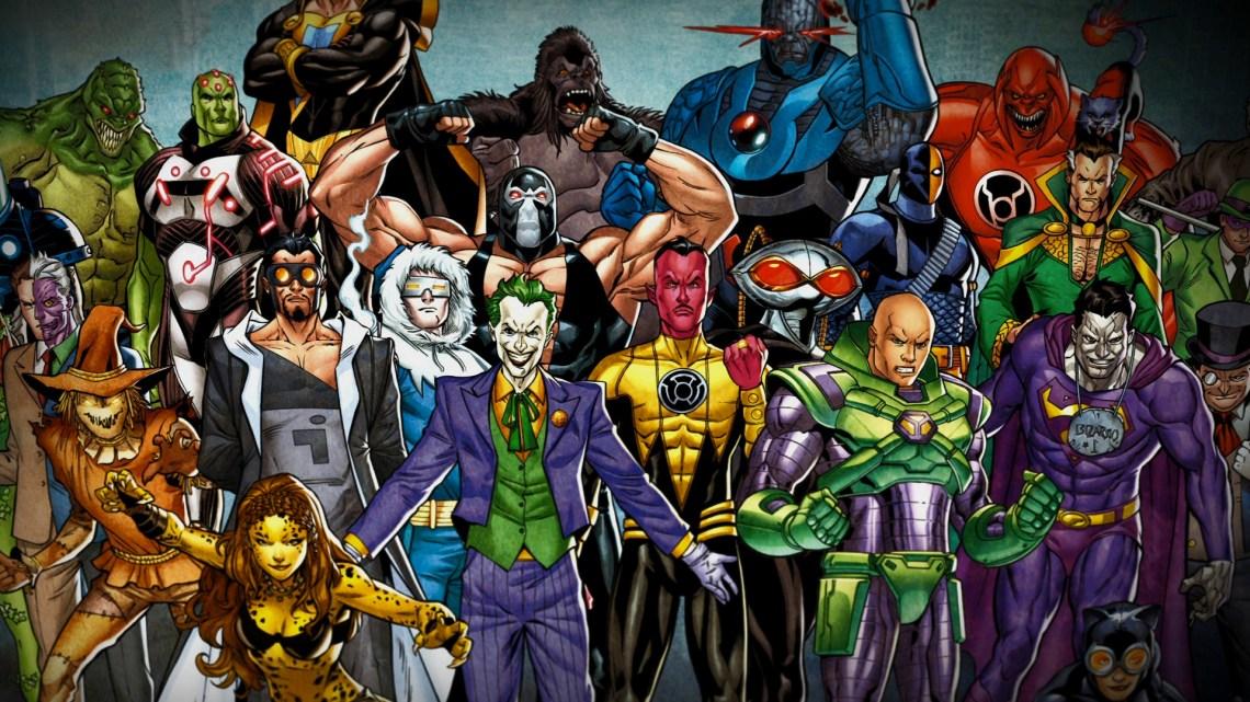 A collection of DC Super Villains
