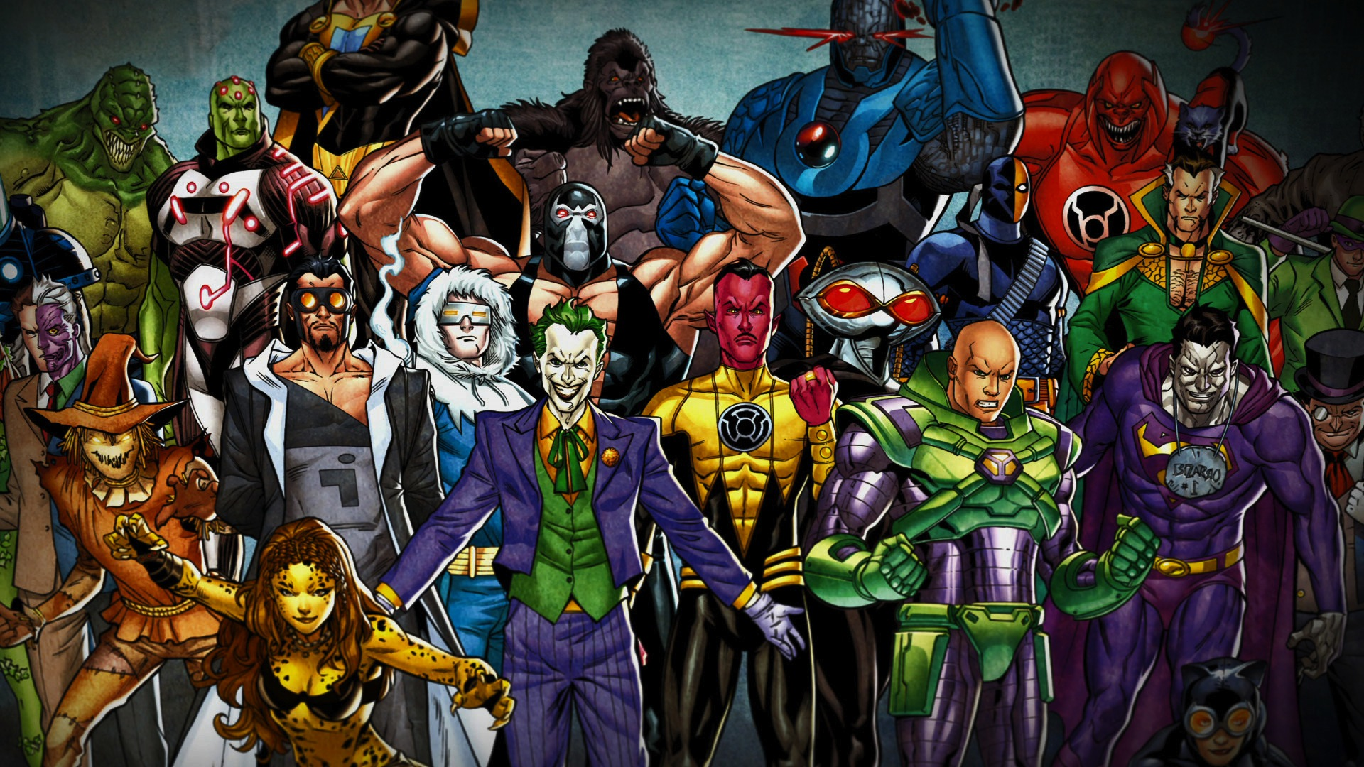 A collection of DC Super Villains