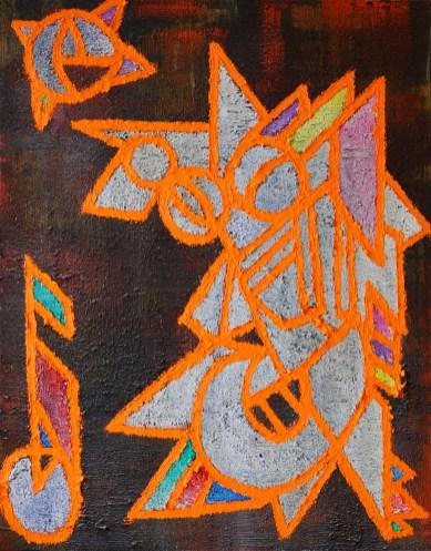 Peinture a l'huile et pigments Jeremie Francblum artiste Peintre Paris
