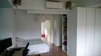 Bedroom, AC, projector screen