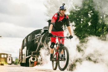 Danny MacAskill eyes up gap to railway track