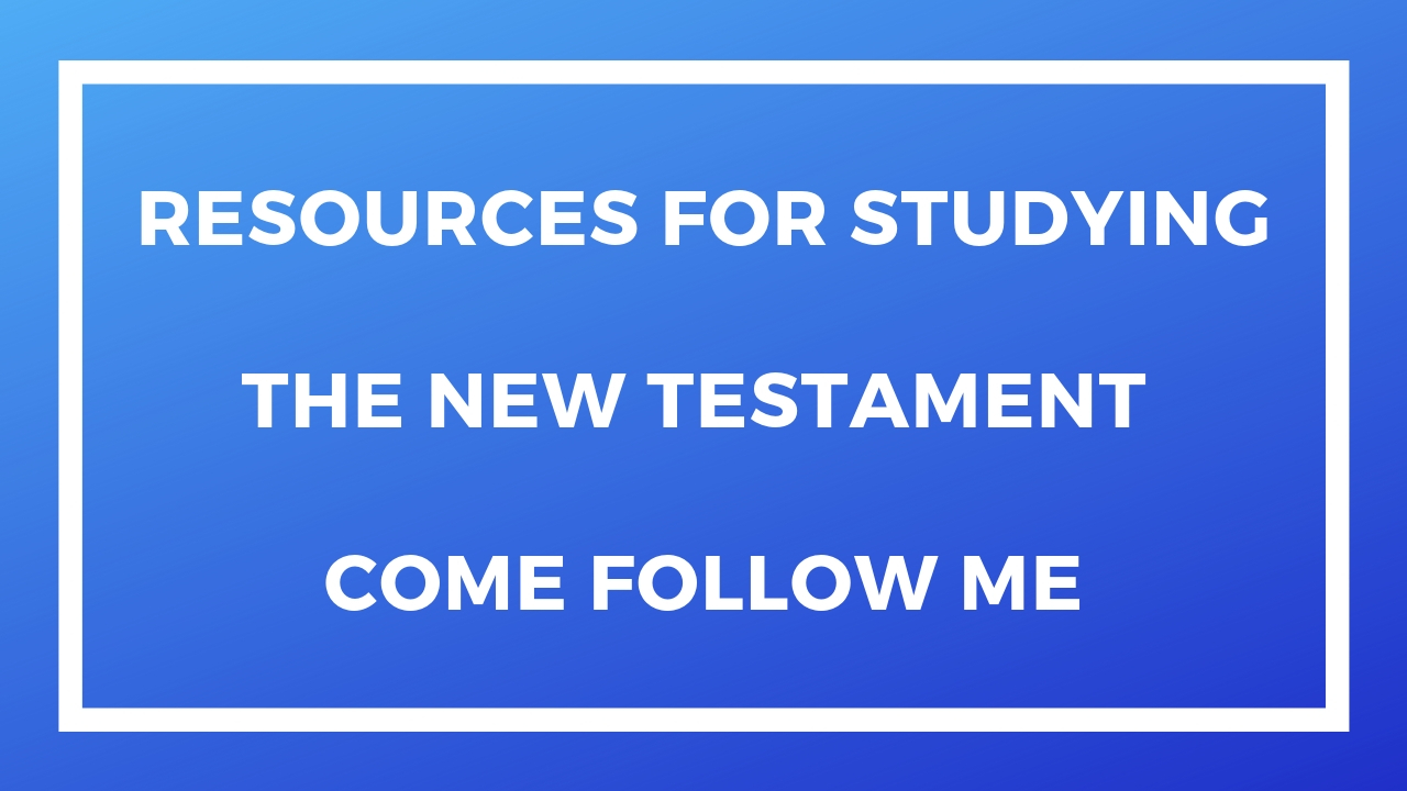 Resources for Studying the New Testament