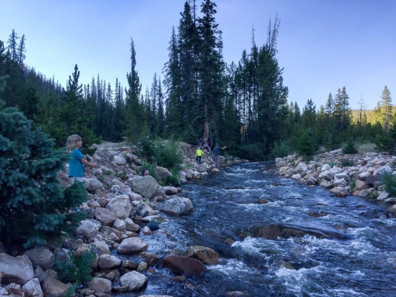 A family fishing outing on the Provo was a lot of fun as my children worked to learn to flyfish.