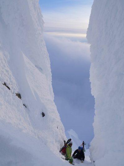 Ski de couloir en Norvége