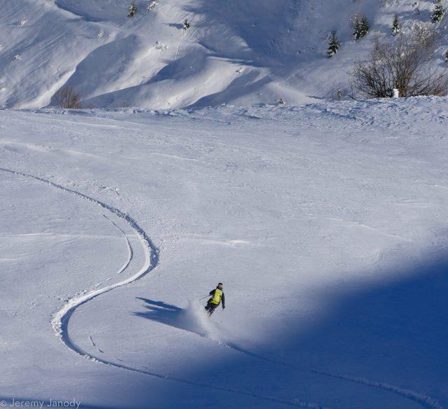 Poudreuse et grand ski dans les Aravis