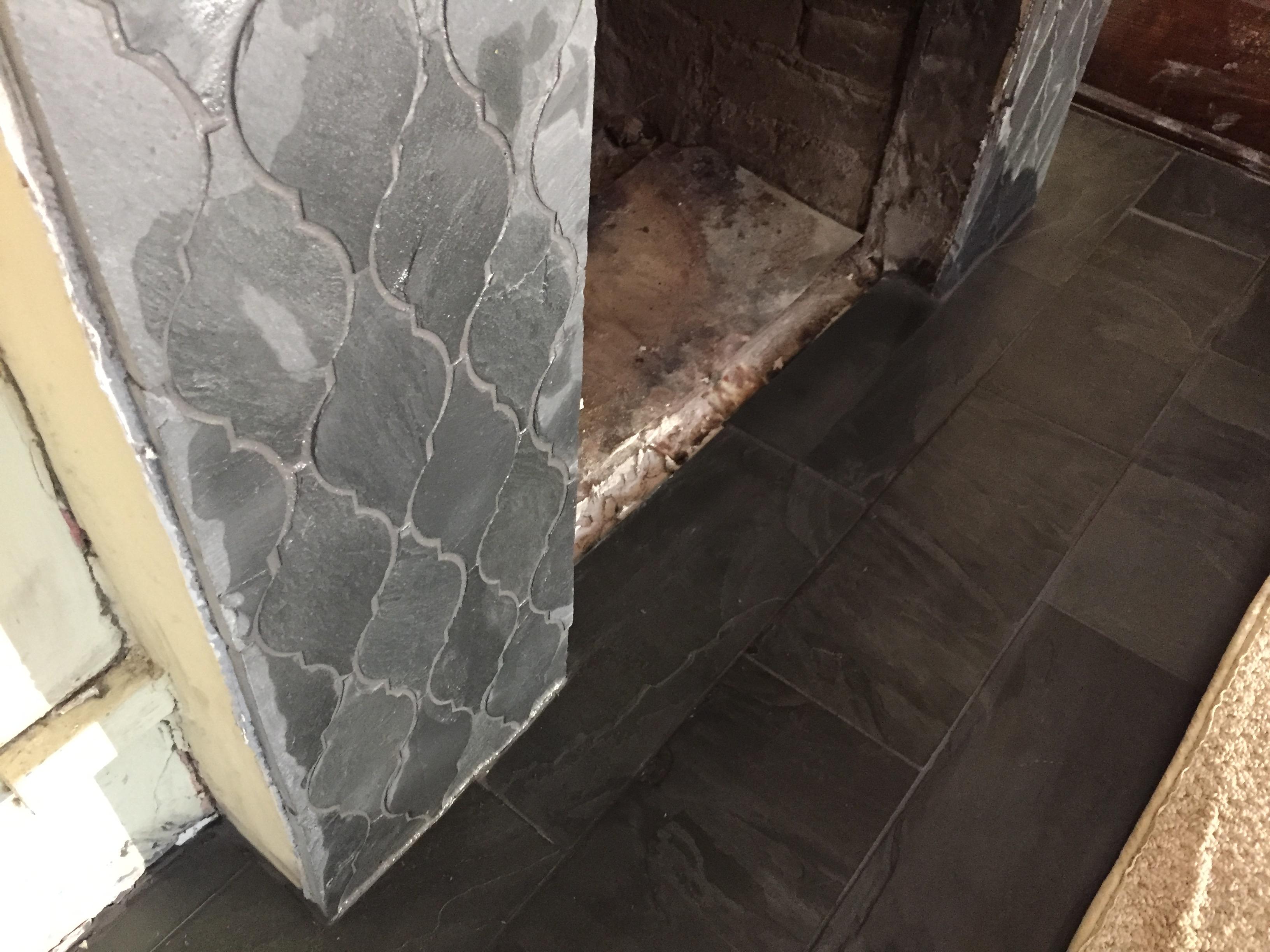 victorian fireplace refurbish slate