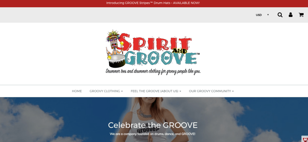 Spirit and Groove Drum T Website