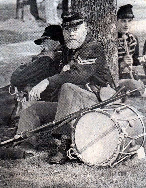A civil war reenactment drummer takes a break – from Jeremy Larochelle's photo portfolio.