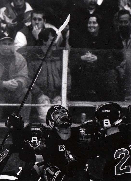 Hockey players celebrate a win – from Jeremy Larochelle's photo portfolio.