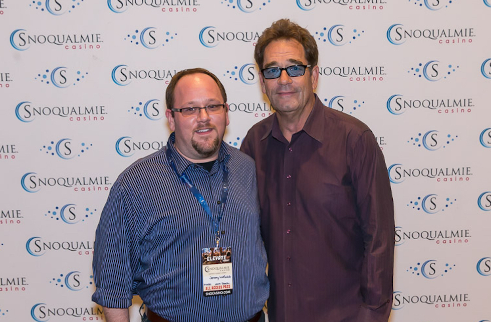 Jeremy Larochelle with Huey Lewis