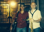 With one of my saxophone students, Ibrahim Shawki, Beirut, 2013