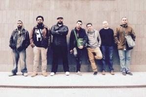 On tour in France with Fareeq el Utrush, 2014 with Hicham Ibrahim (aka DJ Sotusura), Edd Abbas, John Imad Nasr, Nasser Al Shorbaji (aka Chyno), Fayez Zouheiry (aka FZ), me and Nidal Abou Samra.