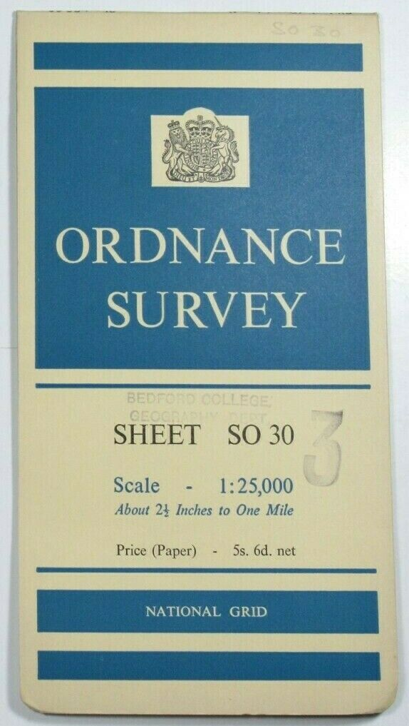 1961 Old Vintage OS Ordnance Survey 1:25000 First Series Map Sheet SO 30 Usk OS 1:25 000 First Series Maps 2
